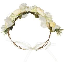 couronne de fleurs artificielles blanche pour mariage
